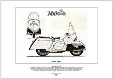 MAICO MOBIL MB200 - FINE ART PRINT - Luxury 1950's streamlined German Scooter