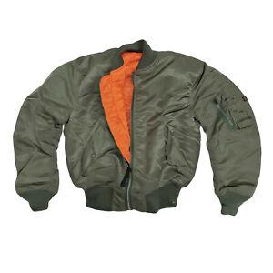 MA1 Jacket Original US Concord Flight Bomber Pilot Army Military Padded Olive M