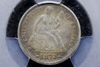 1873 w/ Arrows Seated Liberty Dime, Very Choice Very Fine, PCGS VF-35
