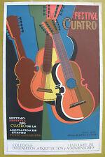 Vera Cortes Septimo Festival Del Cuatro 1976 Poster Serigraph Puerto Rico
