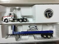 Rare! Tonkin Replicas Collectible Diecast Truck Blue 1/53 Metal Trailer Model
