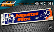 EDMONTON OILERS Vintage Bumper Sticker - Unused - NOS - NM