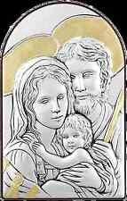Icona Argento Sacra Famiglia, Icona ad Arco, Quadri Arte Sacra in Argento