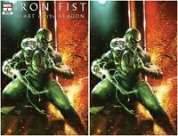 IRON FIST HEART OF THE DRAGON #1 DELL'OTTO VIRGIN & TRADE SET - NM or Better