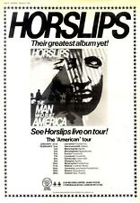 """F21 FRAMED POSTER SIZE ADVERT 15X11"""" THE HORSLIPS : THE MAN WHO BUILT AMERICA"""