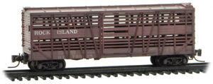 Micro-Trains MTL Z-Scale 40ft Despatch Stock Car Rock Island (Weathered) #75015