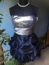 Three Pink Hearts Juniors Party Strapless Zebra Sequin Bubble Dress SZ 13 NWT