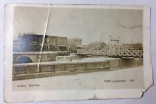 Old Real Photo Postcard RPPC Canal Bridge in Port Colborne, Ontario Canada