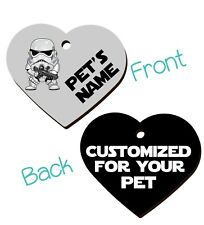 Disney Stormtrooper Double Sided Pet Id Dog & Cat Tag Personalized For Your Pet