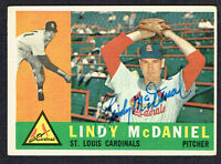 Lindy McDaniel #195 signed autograph auto 1960 Topps Baseball Trading Card