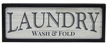 Laundry Wash & Fold Farmhouse Sign Shelf Sitter Rustic Wall Art Home Decor Print