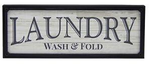 Laundry Wash & Fold Farmhouse Sign Shelf Sitter Rustic Wall Art Home Decor Print