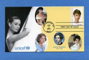 Sc# 3786 Audrey Hepburn S&T Cachet First Day Cover Limited 5 of 5