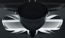 MINI Genuine Cooper Union Jack Rear View Mirror Trim Cover Black 51162148220