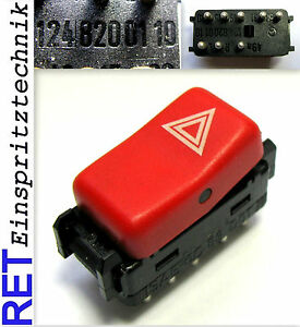 Schalter Warnblinkschalter 1248200110 Mercedes Benz W 124