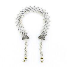 """Silver Anklet 8"""" Tabra Narrow Open Weave"""
