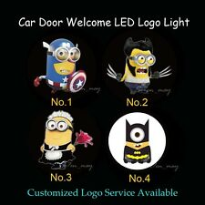 2 x 3D Minions Gobo Car Door Welcome Laser Projector Ghost Shadow LED Logo Light