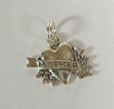 Madre Charm Corazón Colgante .925 Plata de Ley Hecho en USA DÍA LA Valentín