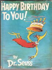 Dr. Seuss HAPPY BIRTHDAY TO YOU  w/dj EX+ 1st Ed
