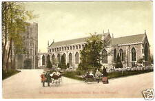 OLD PHOTO POSTCARD Baby Buggies 1904 ENGLAND St Edmunds