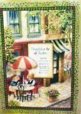 Green Friendship Bistro by Susan Wheeler Home Quilt Panel btp PRICE REDUCED