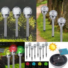 4 Pack Solar Power Outdoor Garden Path Yard Ball Light crystal Lamp Lawn Patio