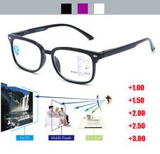 Progressive Reading Glasses 0/ADD +1.00 to +3.00 Optical Lenses Plastic Frame