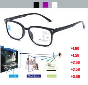 Progressive Reading Glasses +1.0 to +3.0 Multifocal Varifocal Lens Plastic Frame