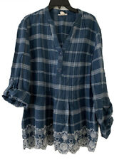 Style&co. Cotton Pleated Eyelet-Hem Top. MSRP:$54