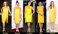 Stella McCartney Iconic Yellow Tassel Fringe Dress 42 uk 10