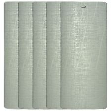 DALIX Silky Vertical Window Blinds Premium Textured Set 5 Pack Qty / Silver