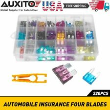 220PCS Car Fuse Assorted Auto Replacement fuses regular size blade ATC ATO ATM E