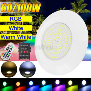 100W 72/108LED RGB Swimming Pool Light Spa Underwater Fountain Lamp IP68