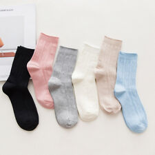 6 Pairs Womens 100%25 Cotton Soft Candy Color Cute Ankle Dress Casual Warm Socks