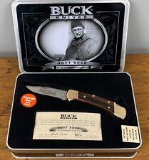 56-5 Buck USA Hoyt Buck 112 Founders Edition Lockback Knife With Collectors Tin