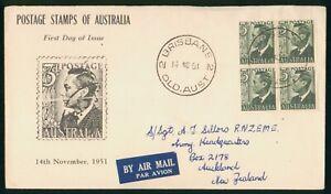 Mayfairstamps Australia FDC 1951 King George VI 3d Block wwr_02359