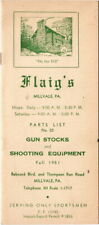 Flaig's Sportsmen Brochure Fall 1951, with Flyer and Original Envelope