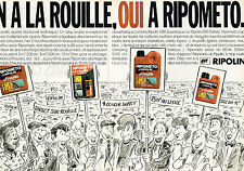 PUBLICITE ADVERTISING 025  1985  RIPOLIN   anti rouille RIPOMETO ( 2p)  par