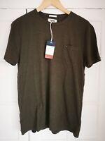 Tommy Hilfiger Jeans Pocket T-shirt, Regular Fit, Size S, Color Khaki Green