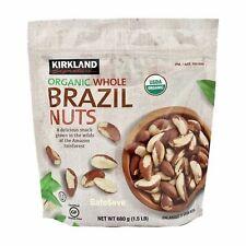 1.5 Lbs Kirkland Signature Organic Whole Brazil Nuts, Raw, Unsalted 24 oz Pack