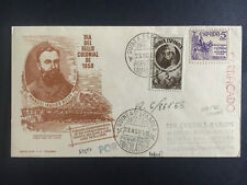 1950 Spanish Guinea First Day Cover to Usa Certified Colonial Stamp Day