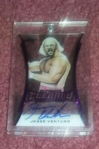 2020 Leaf Ultimate Clearly Dominant JESSE VENTURA Autograph Auto 08/10 WWE WWF