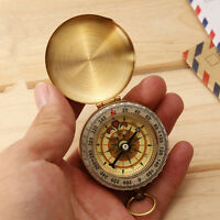 Messing Camping Hiking Navigation classic pocket watch style Kompass Tool .