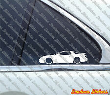 2X Lowered Low Pontiac Trans Am, Ram Air (Ws6) outline car STICKERS  -S525