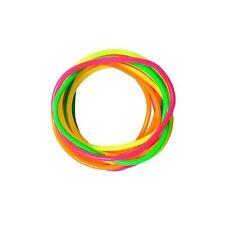 Neon  Gummy Bangles 12 Bands Jelly Wristbands Bracelets 80's  Fancy Dress Girls