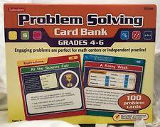 NEW LAKESHORE  Problem Solving Card Bank Grades 4-6 - EDUCATIONAL MATH Ages 9+