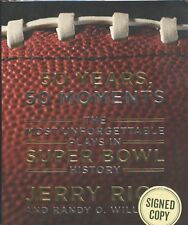 50 Years, 50 Moments signed by Jerry Rice - 2015 1st. Edition NF/F