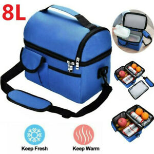 Large Insulated Lunch Bag Adult Kids Men Thermal Cool Hot Food Storage Tote Box
