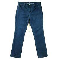 """NYDJ Womens Jeans size 16 Dark Wash Slim Skinny x 31"""" inseam Soft Cotton Stretch"""