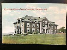 Vintage Postcard>1909>Higgins Classical Institute>Dormitory>Clarleston>Maine